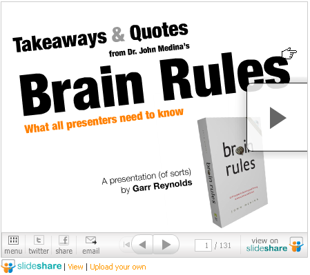 Brain Rules SlideShare